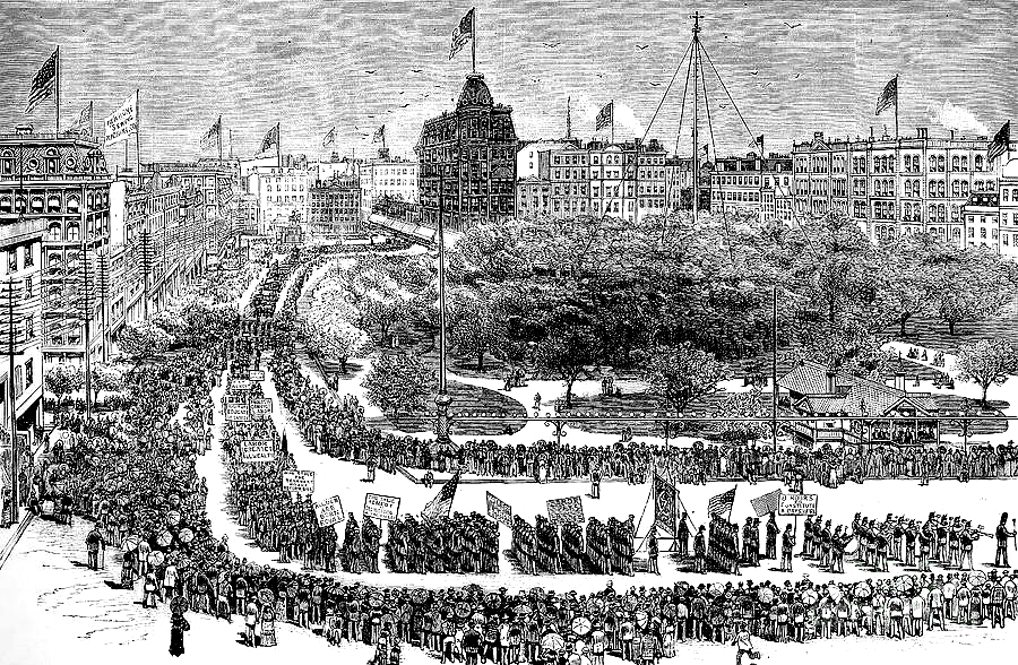The first Labor Day parade in New York, 1882