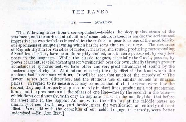 The raven essay question