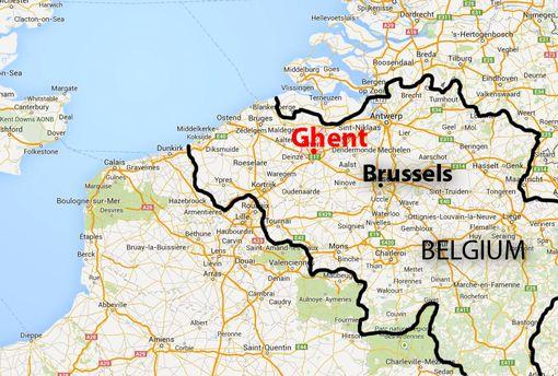 map of ghent in belgium