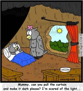 'Mummy, can you please pull the curtain and make it dark please? I'm scared of the light...'